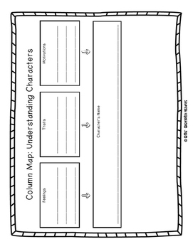 Lined Graphic Organizer Set for Journeys Lessons 1-5 Third Grade