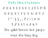 Lined Letter Font (.ttf)