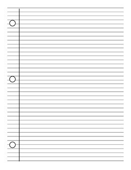 Lined Notebook Paper Template Pdf