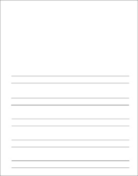 Lined Notebooking Paper