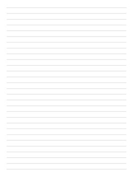 Lined Notes Pages