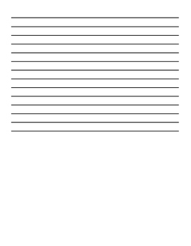 Lined Page for Writing Assignment - Includes Illustration Space