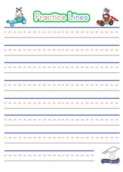 Lined Pages, Writing Paper For Children. Fun And Colorful!