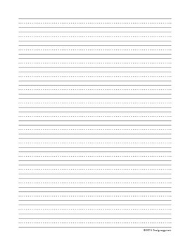 Lined Paper - 2nd grade