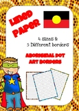 Lined Paper with Aboriginal Dot Art Border