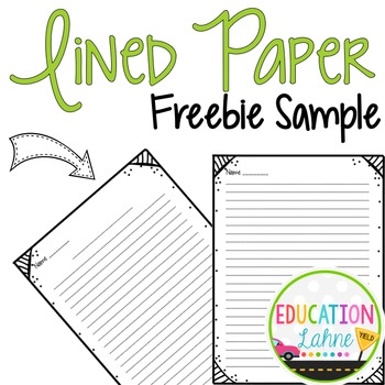 Lined Paper {Borders Included} FREEBIE Sample