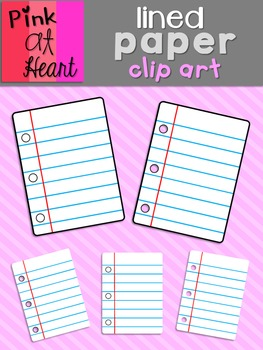 Lined Paper Clip Art