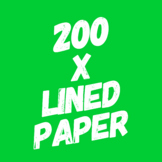 Lined Paper Collection - 200 Different Types!
