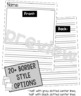 Lined Paper, Draw & Write Graphic Organizers