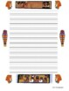 Writing Paper - Lined Paper - Ancient Egypt