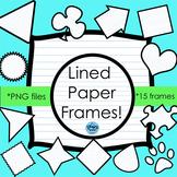 Lined Paper Frames Clip Art