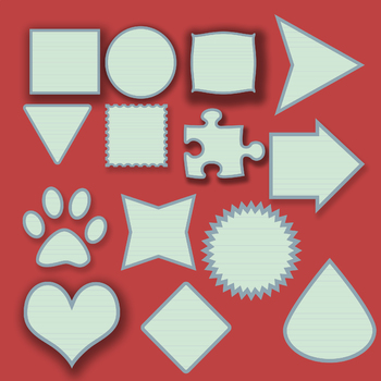 Lined Paper Frames Clip Art Pack