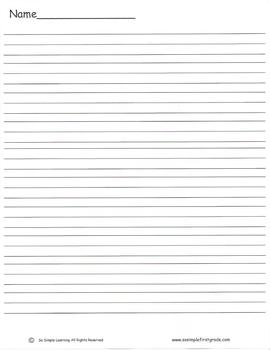 Lined Paper Full & Half-Page