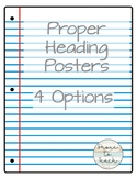 Lined Paper Heading and Set-up Poster