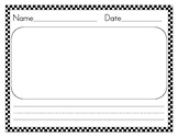 Lined Paper Horizontal with 0-3 Lines
