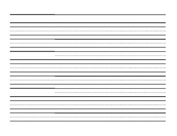 Lined Paper Landscape Worksheets & Teaching Resources | TpT