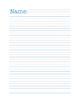 Lined Paper Pack (Intermediate Grades)
