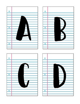 Lined Paper Pennant Banner Set