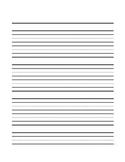 Lined Paper - Portrait