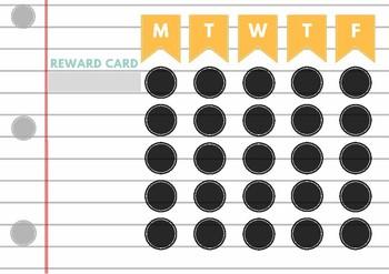 Lined Paper Reward Card
