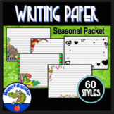 Writing Paper with Lines Primary 60 Styles for Whole Year