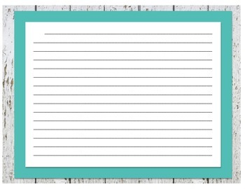 Lined Paper- Shabby Rustic Theme