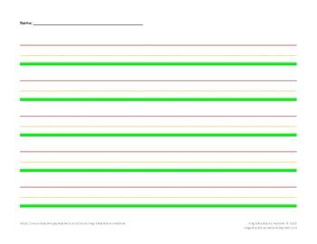Lined Paper - Stoplight - Landscape