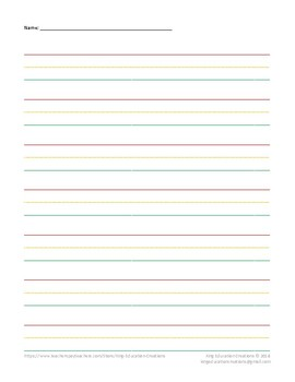Lined Paper - Stoplight - Portrait
