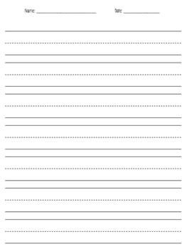 Lined Paper- Vertical!