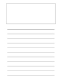 Lined Paper With Picture Box (11 Lines)