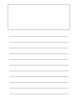 picture regarding Free Printable Lined Writing Paper named Covered Paper With Consider Box Worksheets Schooling Supplies