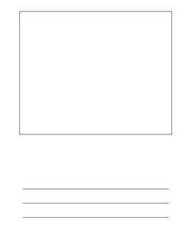 Lined Paper With Picture Box Worksheets & Teaching Resources | TpT