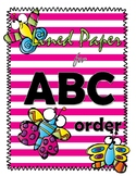 Lined Paper for ABC order