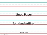Lined Paper for Handwriting