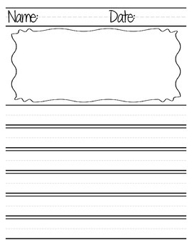 Lined Paper for Write & Illustrate