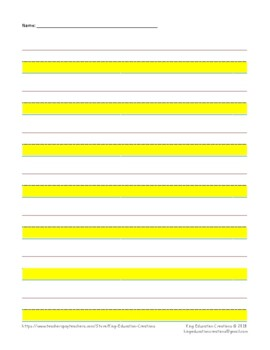 Lined Paper - highlighted - Portrait