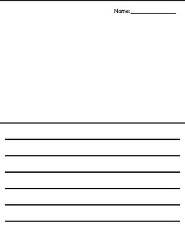 Lined Paper with Area for Drawing