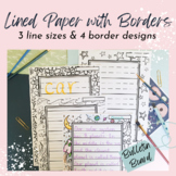 Lined Paper with Coloring Borders Bundle - Dotted Thirds for handwriting