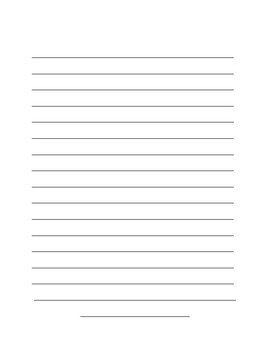 Lined Paper with Pencil Border
