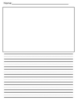 Lined Paper with Picture