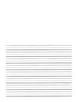 Lined Paper with Picture Spot
