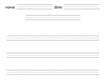 Lined Papers / Writing Template - Landscape