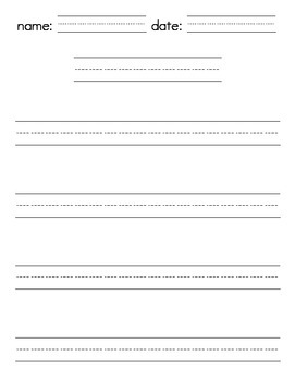 Lined Papers / Writing Template - Portrait