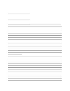 Lined Papers for Miscellaneous Writing Assignments by Mindy Scheel