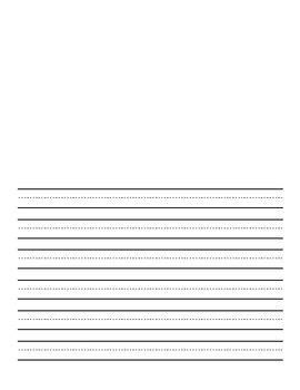 Lined Picture Paper - 2nd grade