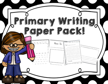 Lined Primary Writing Paper Pack!