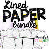 Lined Publishing Paper