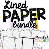 Lined Publishing Paper Freebie