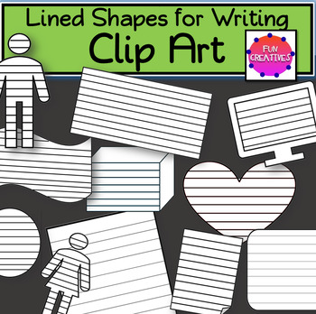 Lined Shapes for Writing-Clip Art