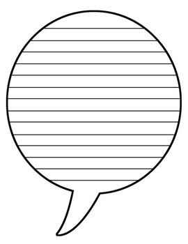 Lined Speech & Thought Bubble